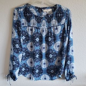Loft Blouse with Bow Cuffs